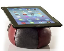 The Saddle Ipad Holder, Leather, Red / Graphite