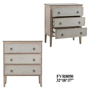 CRESTVIEW COLLECTIONSHawthorne Estate 3 Linen Drawer Chest in Sand Finish