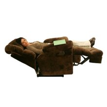 "Power Chaise Recl w/""Lay Flat"" Feature - Chocolate"