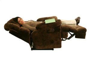 """Power Chaise Recl w/""""Lay Flat"""" Feature - Chocolate"""