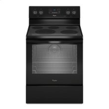 Whirlpool® 6.4 Cu. Ft. Freestanding Electric Range with AquaLift® Self-Cleaning Technology - Black