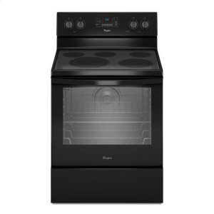 Whirlpool® 6.4 Cu. Ft. Freestanding Electric Range with AquaLift® Self-Cleaning Technology - Black - BLACK
