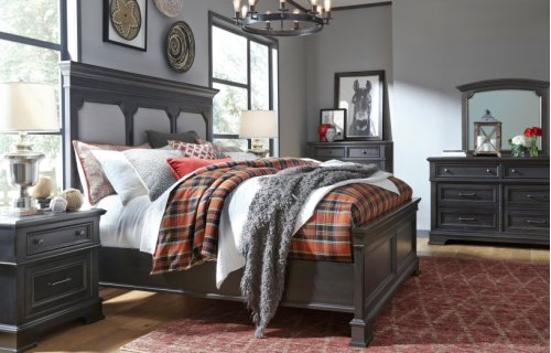 Townsend Upholstered Panel Bed, King 6/6