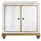 Antique Mirrored Wine Door Cabinet Product Image