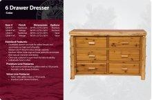 6 Drawer Dresser-Traditional