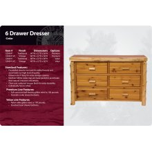 6 Drawer Dresser-Traditional