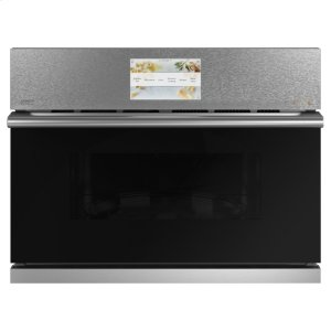 "GECafe 27"" Smart Five in One Oven with 120V Advantium ® Technology in Platinum Glass"