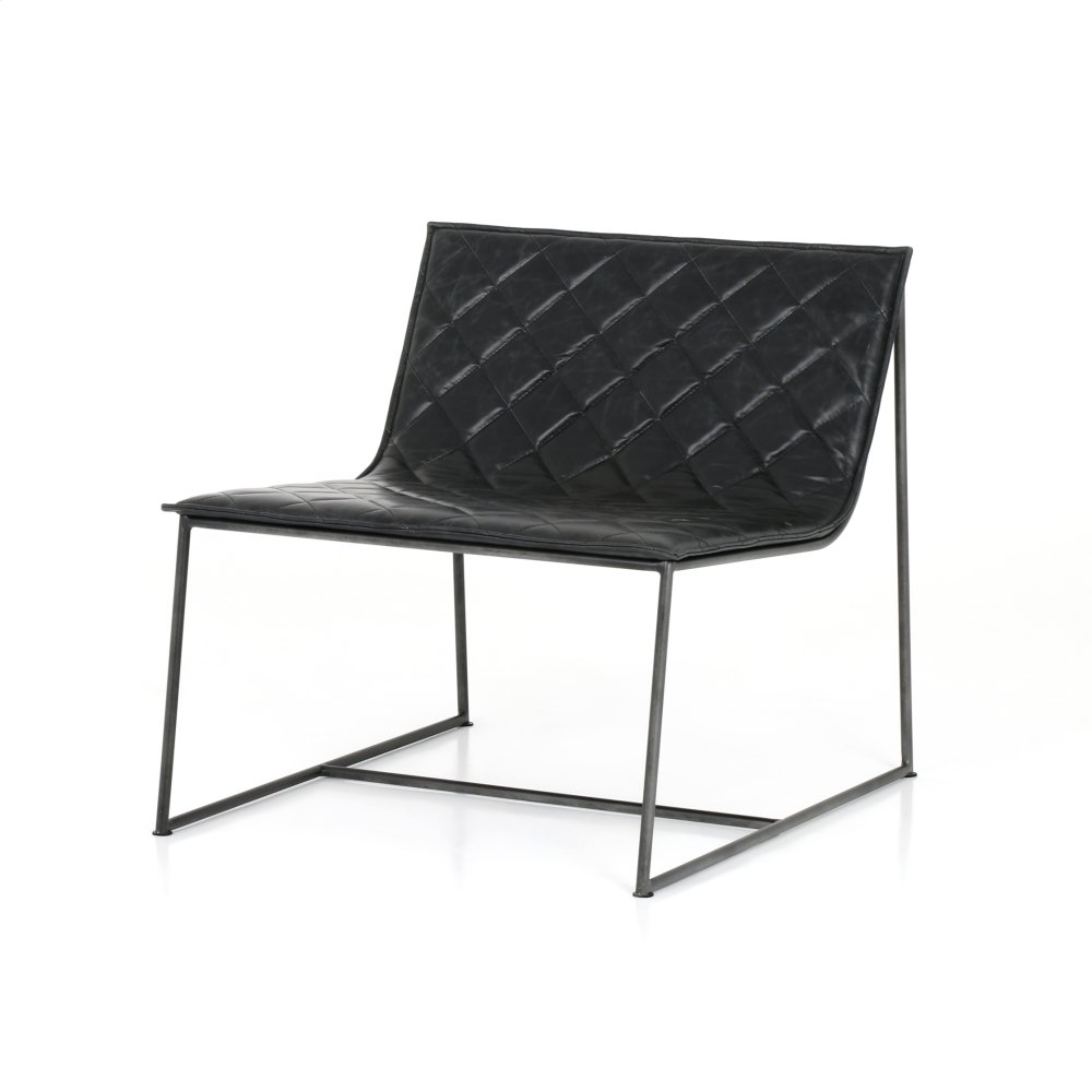 Dessau Chair Quilted Charcoal