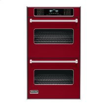 """Apple Red 30"""" Double Electric Touch Control Premiere Oven - VEDO (30"""" Wide Double Electric Touch Control Premiere Oven)"""