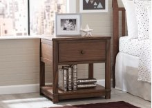 Langston Nightstand with Drawer and Shelf - Rustic Oak (229)