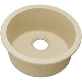 "Elkay Quartz Classic 18-1/8"" x 18-1/8"" x 7-1/2"", Single Bowl Dual Mount Bar Sink, Sand"