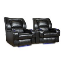 Roxie Reclining Home Entertainment Sectional with LED CupHolders and Floor Lighting
