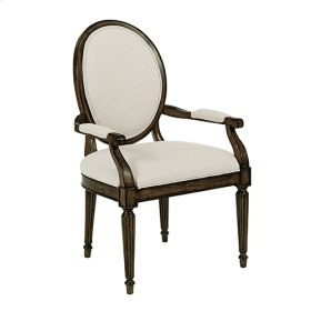 Oval Back Arm Chair Black Forest