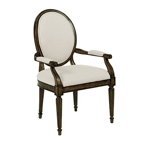 Artisans Shoppe Oval Back Arm Chair Black Forest