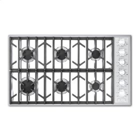 "White 36"" Gas Cooktop - VGSU (36"" wide, six burners)"