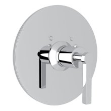 Polished Chrome Avanti Thermostatic Trim Plate Without Volume Control with Metal Lever