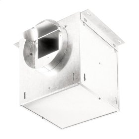 "Ventilator; 195 CFM Straight Through, 1.9 Sones; 183 CFM Right Angle, 1.0 Sones. 8"" rd. duct connectors. 120V"