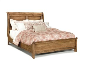 King Sleigh Bed W/Low Footboard