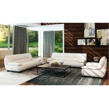 Divani Casa 5121 Modern White Bonded Leather Sofa Set