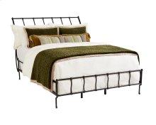 Blackened Bronze Rake Iron Queen Bed
