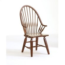 Attic Heirlooms Windsor Arm Chair, Natural Oak Stain