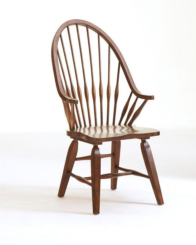 Attic Heirlooms Windsor Arm Chair, Rustic Oak