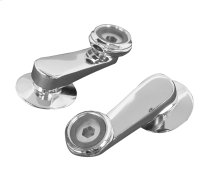 Swivel Arm Connectors for Wall Mount Faucet, Polished Chrome