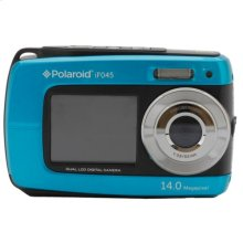Polaroid 14-Megapixel Waterproof Dual Screen Digital Camera iF045, Blue
