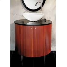 Oval Vanity Cabinet Only