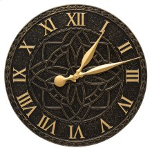 "Artisan 16"" Indoor Outdoor Wall Clock - Black/Gold"