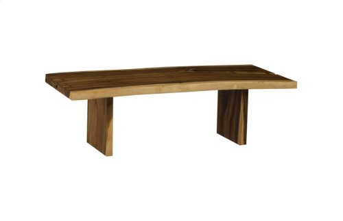 Live Edge Dining Table, Chamcha Wood, Wood Legs