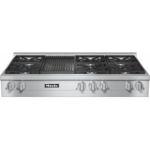 MieleKMR 1355 G RangeTop with 6 burners and grill for versatility and performance