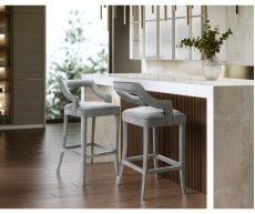 Tiffany Grey Velvet Bar Stool Product Image