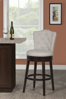 Edenwood Swivel Bar Stool - Chocolate & Cream