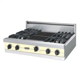"""Lemonade 36"""" Sealed Burner Rangetop - VGRT (36"""" wide, four burners 12"""" wide char-grill)"""