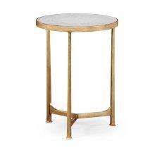 glomise & Gilded Iron Round Lamp Table
