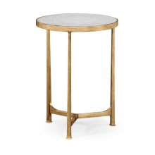 glomise & Gilded Iron Round Lamp Table