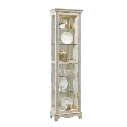Weathered White Display Cabinet