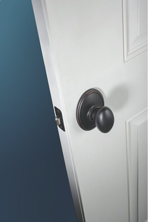 Siena Knob with Wakefield trim Hall & Closet Lock - Aged Bronze