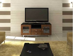 "Natural Walnut AV Stand For TVs up to 70"" and 150 lbs / 68 kg"