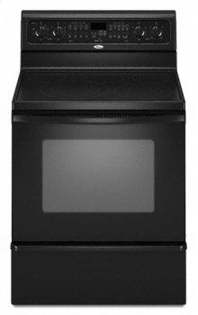"Black Whirlpool® 30"" Self-Cleaning Freestanding Electric Range"