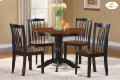 5-Piece Pack Dinette Set Table : 42 Dia x 30H Chair : 18 x 21.25 x 36H Product Image