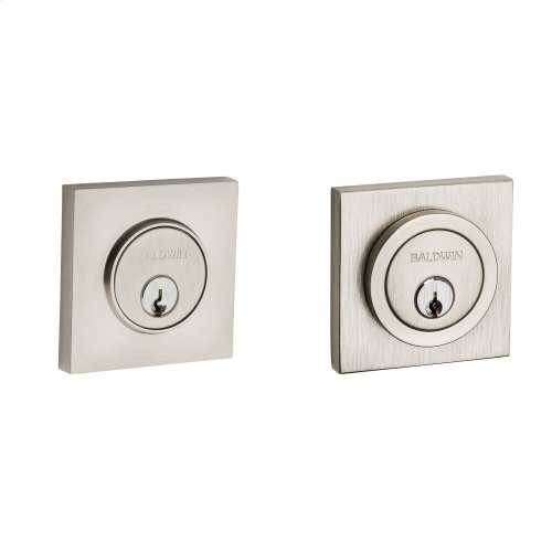Satin Nickel Contemporary Square Deadbolt