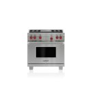 "36"" Dual Fuel Range - 4 Burners and Infrared Griddle Product Image"
