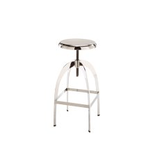 Colby Adjustable Barstool - Silver