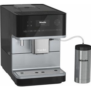 CM 6350 Countertop coffee machine with OneTouch for Two feature and integrated cup warmer for perfect coffee. - OBSIDIAN BLACK
