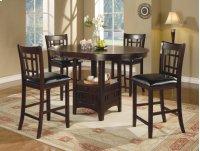 5 PC Set:c H Table W/ 4 Stools Product Image