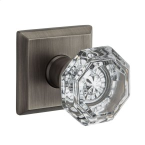 Matte Antique Nickel Crystal Reserve Knob