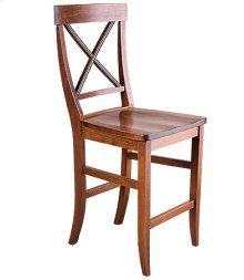 La Croix Counter Chair w/ Wood Seat