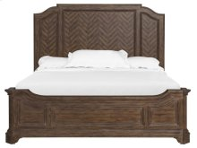 Complete Queen Panel Bed w/Shaped Rails
